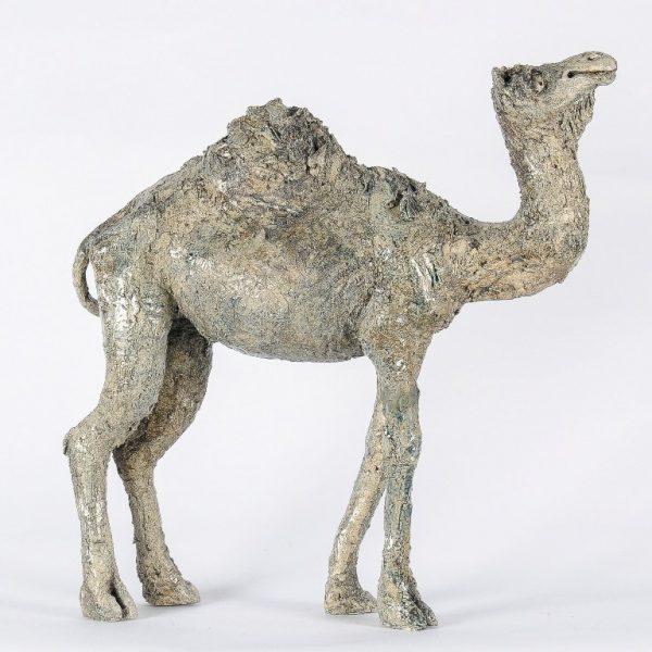 titel: dromedaris / afmeting: 50 cm hoog / materiaal: keramiek