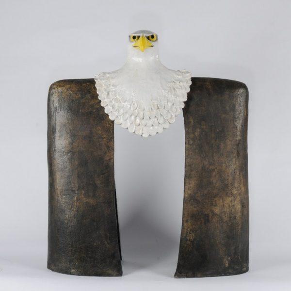 titel: zeearend / afmeting: 73 x 60/3 / materiaal: keramiek