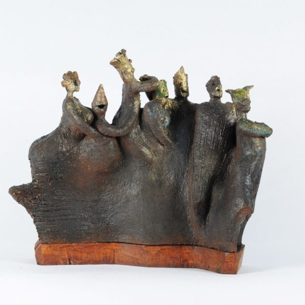 title: polonaise III  / size: 40 x 40 x 10 cm  /  material: ceramics