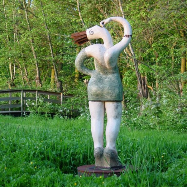 title: pigheaded  / size: 170 cm height /  material: ceramics