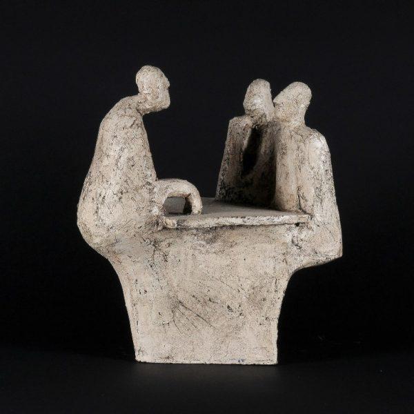 title: hanging around-bastards  / size: 30 x 27 cm /  material: ceramics