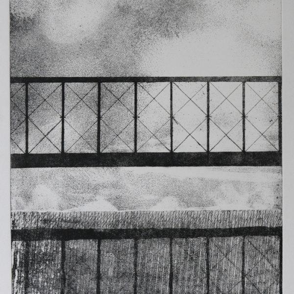 title: bridge I / size: 40 x 30 cm / material: etching