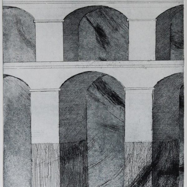 titel: bruggen II / afmeting: 40 x 28 cm / materiaal: ets