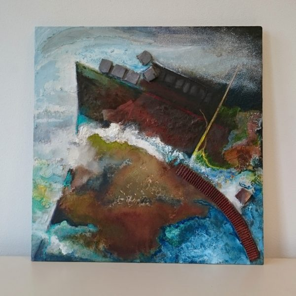 title: landscape / size: 60 x 60 cm / material: mixed painting